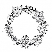 Floral Ring Digital Stamp - Commercial and Personal Use