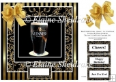 "Black Gold for Men - Cheers - 8"" x 8"" Quick Card Topper"