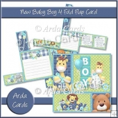 New Baby Boy 4 Fold Flap Card