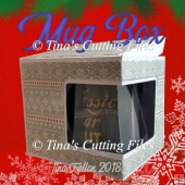 Mug Gift Box with window aperture from A3 card