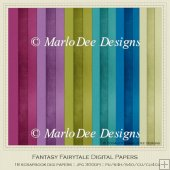 Fantasy Fairytale Scrapbook Cardstock Digital Papers