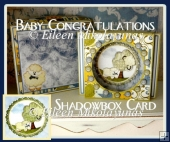 Baby Congratulations SWEET DREAMS Shadowbox Card Set