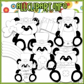 Little Irish Panda Bears Commerical Use Digital Stamps