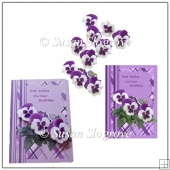 Lilac Pansy Card Front and Decoupage