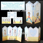Beach Hut Surprises - Glamour Girls - Gatefold Card Kit