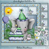 Little Birthday Elephant 8x8 Mini Kit