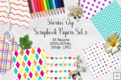 Sherbet Dip CU Scrapbook Papers Set 3