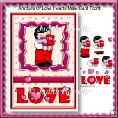 Armfulls Of Love Hearts Male Card Front
