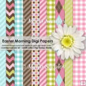 Easter Morning Digital Paper Pack {A4 Size}