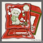 Easel Card Christmas Cat & Mouse