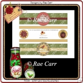 PS189 Christmas Joy and Bird Bottle Wraps