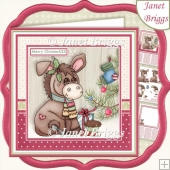 MERRY CHRISTMASS 7.5 Christmas Decoupage & Insert Mini Kit