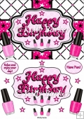 Happy Birthday Nail Polish Quick Card
