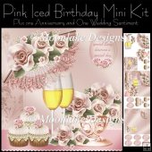 Pink Iced Birthday Anniversary Wedding Mini Kit
