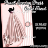 Peach Evening Dress Card Front