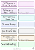Pastel coloured Christmas tags,