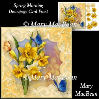 Spring Morning - Decoupage Card Front