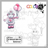 Balloon Robot and Sentiment Digital Stamp