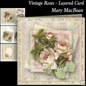 Vintage Roses Layered Card