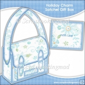 Christmas Holiday Charm Satchel Gift Box