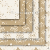 Coffee And Cream Set 2 Flourish Papers