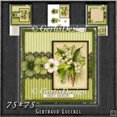Vintage Lace Flower Green Card Kit 1225