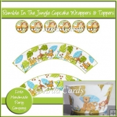 Rumble In The Jungle Cupcake Wrappers & Toppers