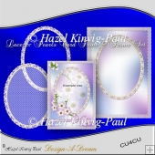 Lace & Pearls Card Front & Frame Set
