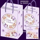 Baubles and Stars Wreath Gift Bags