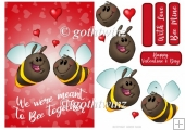 Bee Together Valentines Day With Matching Insert
