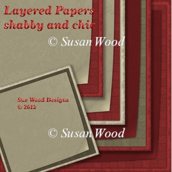 Layered Papers Shabby Chic cranberry and mocha