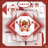 Christmas mouse triangle card set