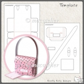 Mini Satchel Gift Box: Template