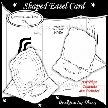 Shaped Easel Card Template