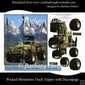 Wicked Mountains Truck Topper with Decoupage