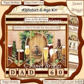 BEER 7.5 Alphabet and Age Quick Card Kit Create Any Name