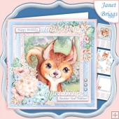 SQUIRREL ANOTHER YEAR NUTTIER 7.5 Decoupage & Insert Kit