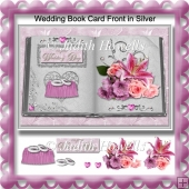 Wedding Book Card Front in Silver