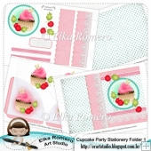 Cupcake Party - Stationery Folder 1 (5 x 7 in)