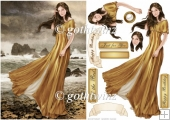 Lady Guinevere (Gold) With Matching Insert