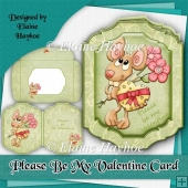 Please Be My Valentine Card Kit