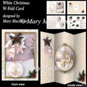 White Christmas - W-fold Card