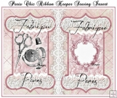 Paris Chic Ribbon Keeper Sewing Card Insert