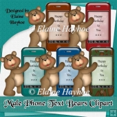 Male Phone Text Bears Clipart