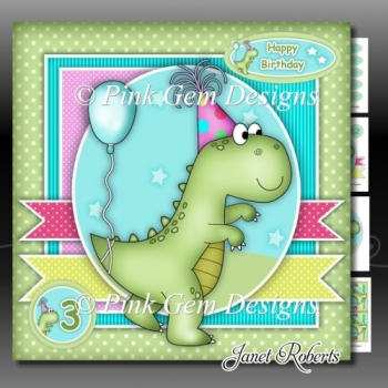 Dino-Mite Birthday Mini Kit With ages 1 to 8 Yrs