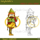 "Fairydoodler's ""Santa's Little Helper"" Clipart & Line Art"