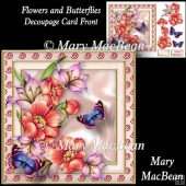 Flowers and Butterflies - Decoupage Card