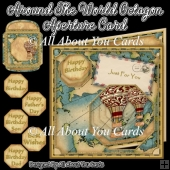 Around The World Octagon Aperture Card
