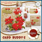 Bowl of Poinsettias Shaped Fold Card Kit