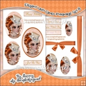 Elegant Lady Cameo Pyramage Set 8